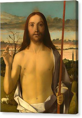 Christ Blessing Canvas Print by Mountain Dreams