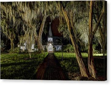 Christ Church Canvas Print by Debra and Dave Vanderlaan