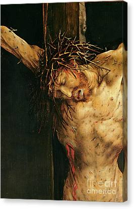 Christ On The Cross Canvas Print by Matthias Grunewald