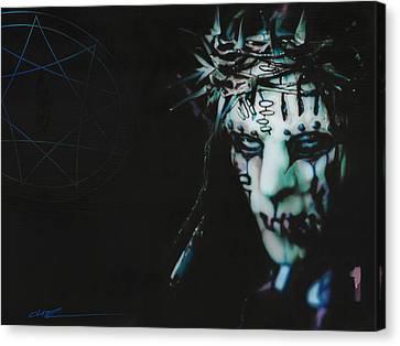 Slipknot - '#1' Canvas Print by Christian Chapman Art