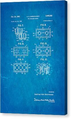 Christiansen Lego Toy Building Block Patent Art 1961 Canvas Print