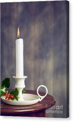 Christmas Candle Canvas Print by Amanda Elwell