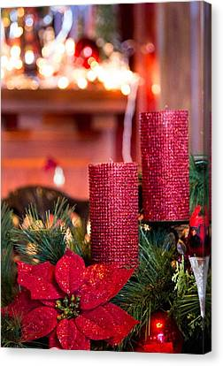 Canvas Print featuring the photograph Christmas Candles by Patricia Babbitt