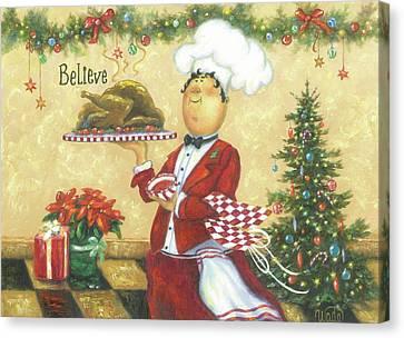 Christmas Chef Canvas Print