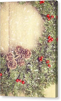 Christmas Garland Canvas Print