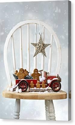 Snowball Canvas Print - Christmas Gingerbread by Amanda Elwell