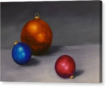 Christmas Glow Greeting Card  Canvas Print by Jo Appleby