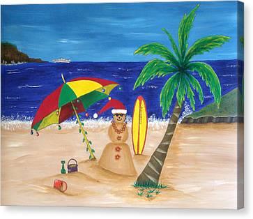 Christmas In Kona Canvas Print by Pamela Allegretto