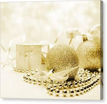 Christmas Ornaments Canvas Print by Jelena Jovanovic