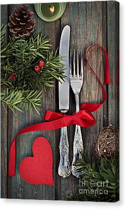Christmas Ornaments Canvas Print by Mythja  Photography
