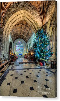 Ceiling Canvas Print - Christmas Tree by Adrian Evans