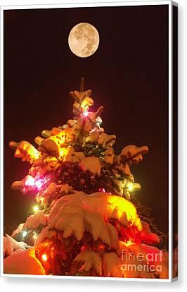 Canvas Print featuring the digital art Christmas Tree Seneca Falls by Tom Romeo
