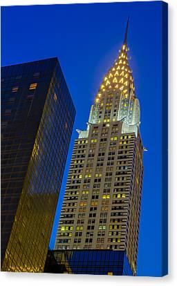Chrysler Building Twilight Canvas Print by Susan Candelario