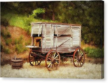 Chuck Wagon Canvas Print by Mary Timman