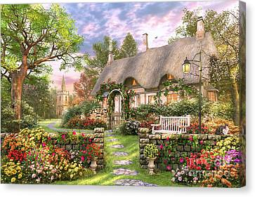 Benches Canvas Print - Church Lane Cottage by Dominic Davison