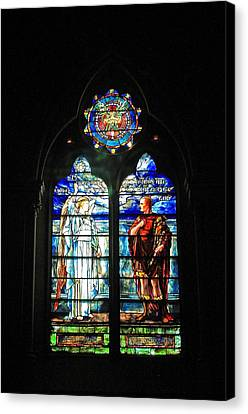 Church Of The Covenant Stained Glass 11 Canvas Print