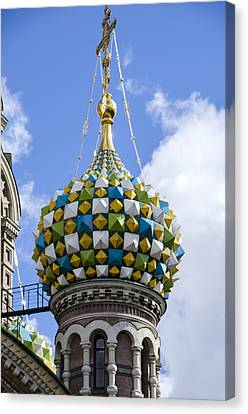 St John The Russian Canvas Print - Church Of The Spilled Blood - St. Petersburg Russia by Jon Berghoff