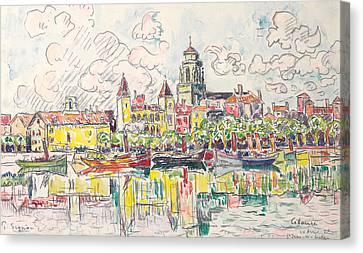 Ciboure Canvas Print by Paul Signac