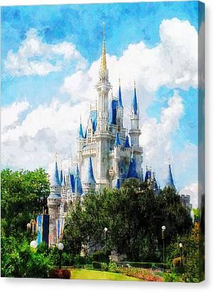 Cinderella Castle Canvas Print by Sandy MacGowan