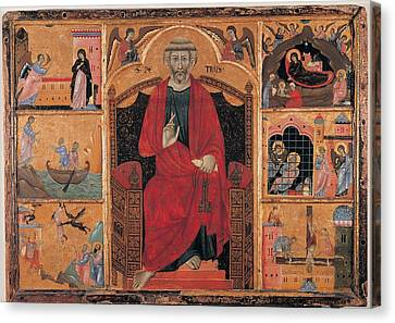 Circle Guido Da Siena, St Peter And Six Canvas Print