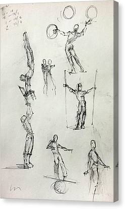 Circus Studies Canvas Print by H James Hoff