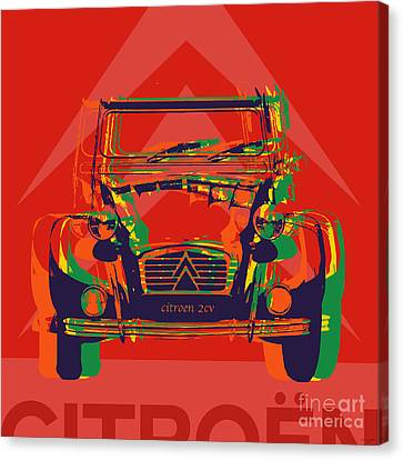 Citroen 2cv Canvas Print