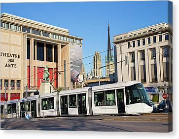 City Centre Tram Canvas Print by Andrew Wheeler