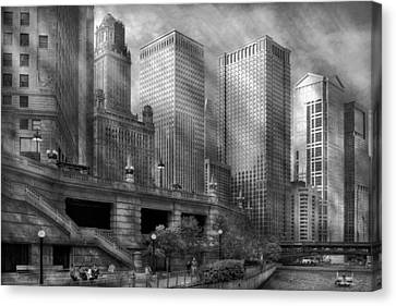 City - Chicago Il - Continuing A Legacy Canvas Print by Mike Savad