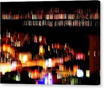 City Lights Canvas Print by Mamie Gunning