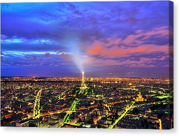 City Of Lights Canvas Print by Midori Chan