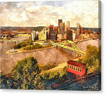 City Of Pittsburgh Canvas Print by Charles Ott