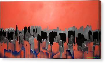 City Skeleton Canvas Print by Robert Handler