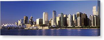 City Skyline, Vancouver, British Canvas Print by Panoramic Images