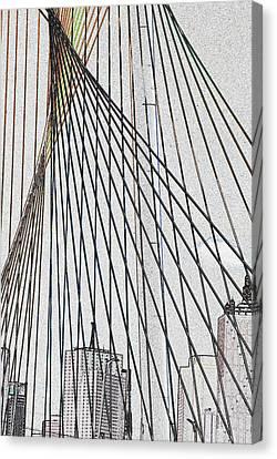 City Through The Bridge Canvas Print