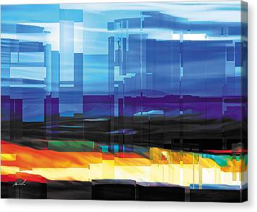 City Within Canvas Print by The Art of Marsha Charlebois