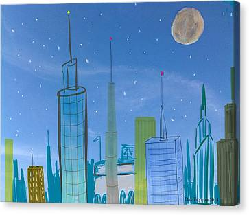 Cityscape Canvas Print by Dan Twyman