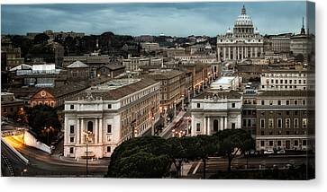Cityscape In Rome Canvas Print by Celso Diniz