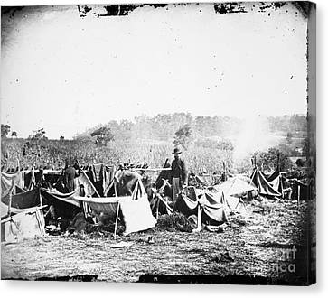 Civil War: Wounded, 1862 Canvas Print by Granger