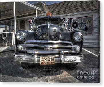 Classic Car Along Route 66 Canvas Print