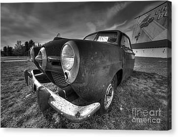 Classic Car At The Drive In Canvas Print