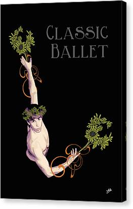 Classical Ballet Canvas Print by Quim Abella
