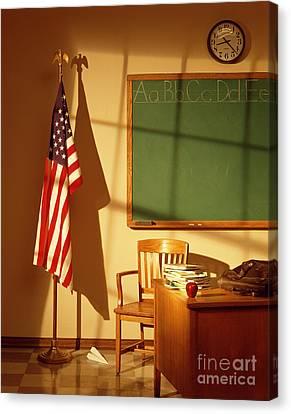 Classroom Canvas Print by Tony Cordoza