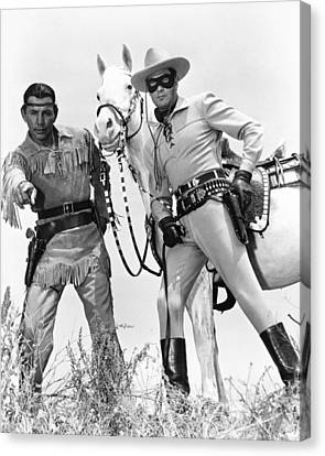 Clayton Moore Canvas Print by Silver Screen
