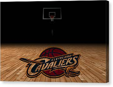 Dunk Canvas Print - Cleveland Cavaliers by Joe Hamilton