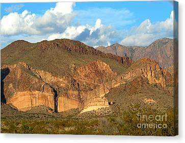 Cliff Erosion With Slope Failure Canvas Print by Gregory G. Dimijian, M.D.
