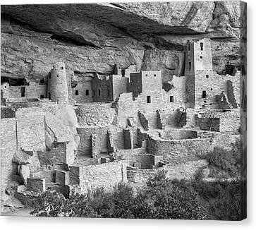 Cliff Palace, Mesa Verde, Colorado, Usa Canvas Print by John Ford