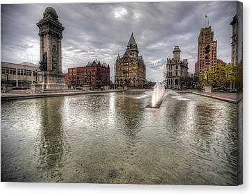 Clinton Square Canvas Print by John Hoey