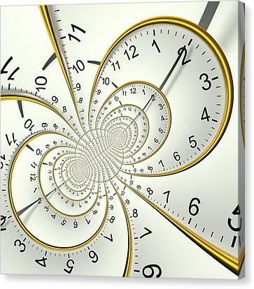 Bipolar Canvas Print - Clockface Spacetime Warp by David Parker