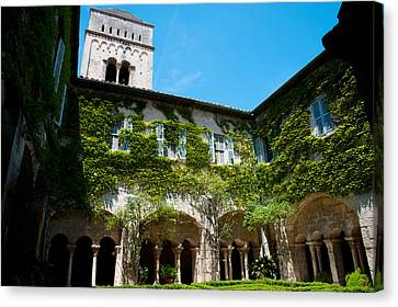 Cloister Of Ancient Monastere Canvas Print by Panoramic Images