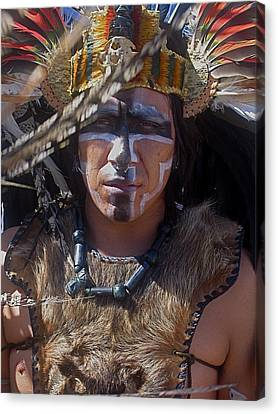 Close-up Aztec Performer O'odham Tash Casa Grande Arizona 2006 Canvas Print by David Lee Guss